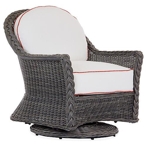Sedona Swivel Lounge Chair, White