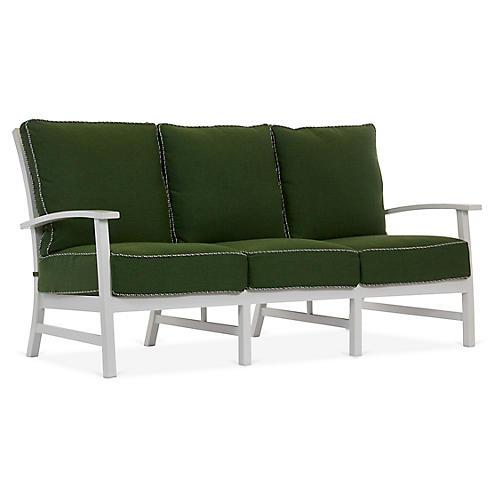 Charleston Sofa, Green/White