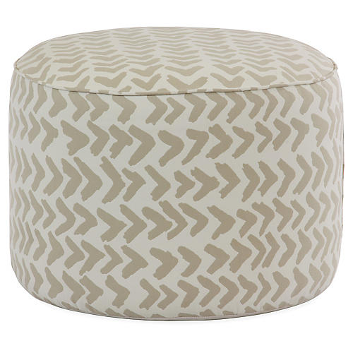 Formation Pouf, Beige/White