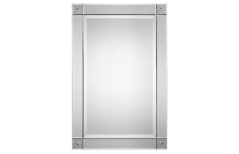 Devon Wall Mirror, Clear
