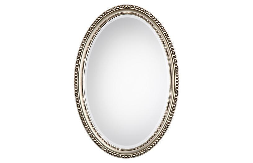 Geneva Wall Mirror, Silver