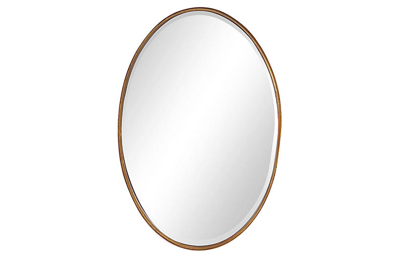Finley Wall Mirror, Gold