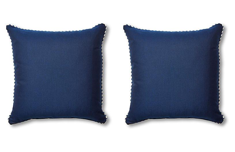 S/2 Newport Pillows, Navy
