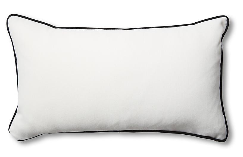 Newport 14x24 Lumbar Pillows, White/Black