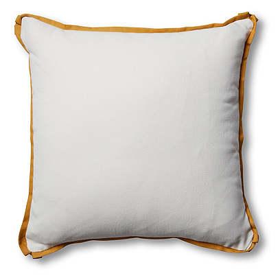 Kit Outdoor Pillow, White/Mustard