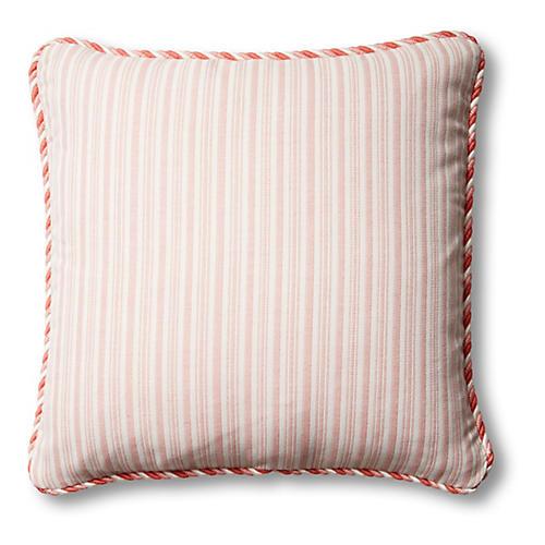 S/2 Kit Outdoor Pillows, Pink/White
