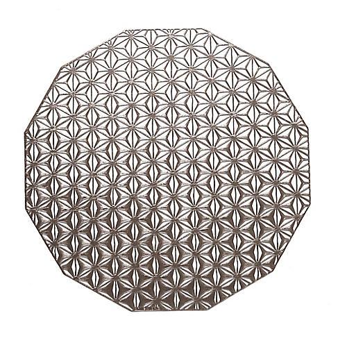 Kaleidoscope Place Mat, Gunmetal
