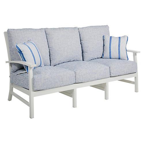 Charleston Sofa, Blue/French Linen