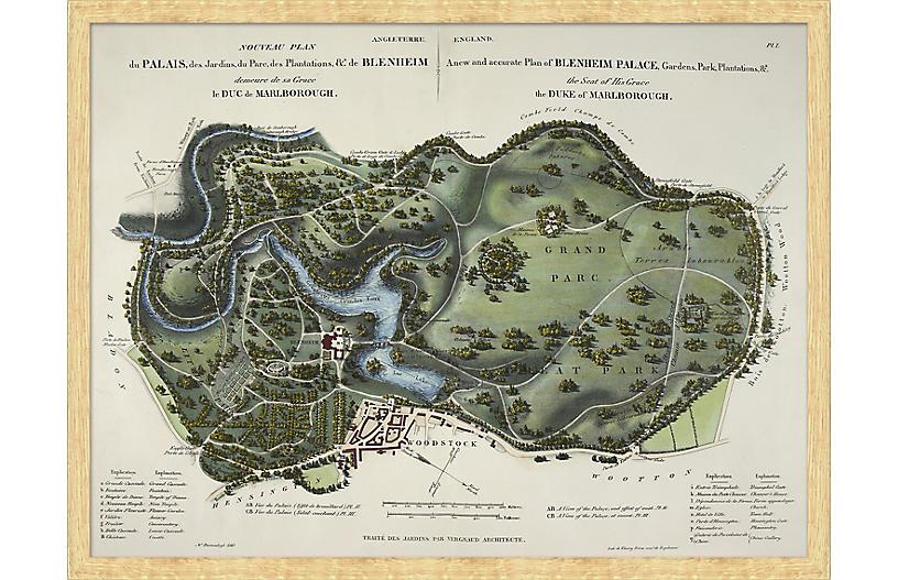 Paris Landscape Map Maps, Natural