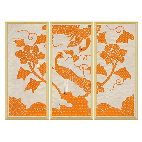 Orange Screen Triptych I