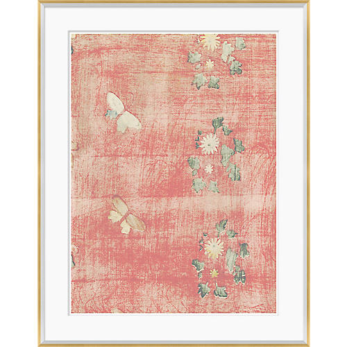 Japanese Textile Design in Blush II