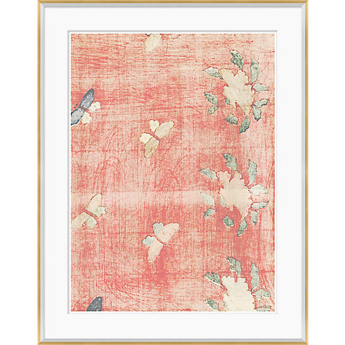 Japanese Textile Design in Blush III