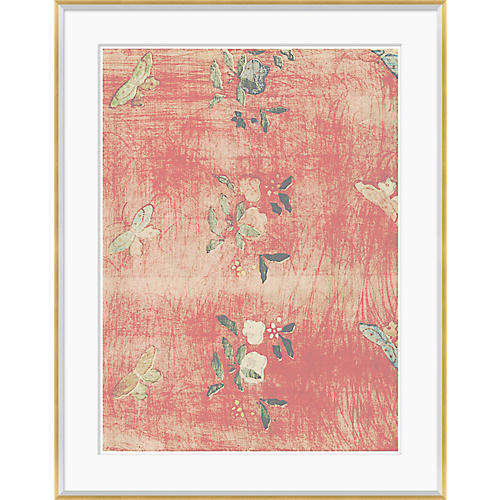 Japanese Textile Design in Blush IV