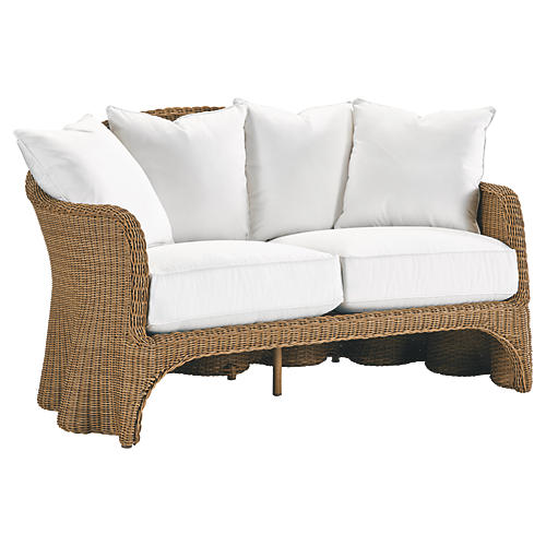 Crespi Loveseat, Natural
