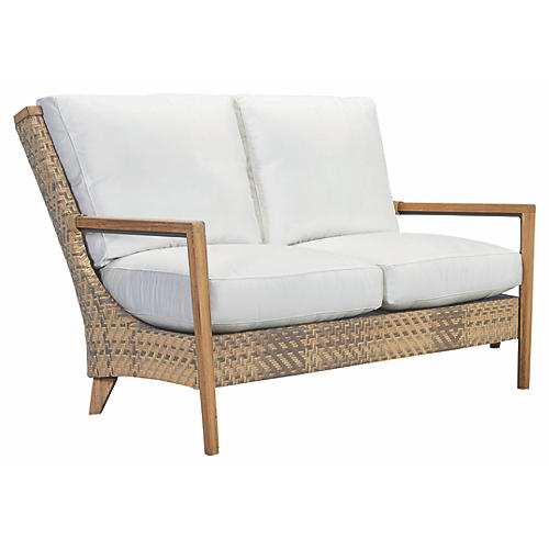 Cote d'Azur Loveseat, Natural/Taupe