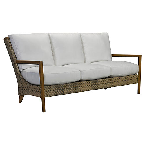 Cote d'Azur Sofa, Natural/Taupe