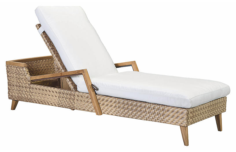 Cote d'Azur Chaise, Natural/Taupe