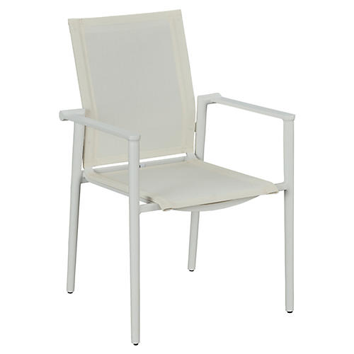 Essentials Tyler Stacking Armchair, White