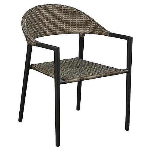 Essentials Amaral Stacking Armchair, Black