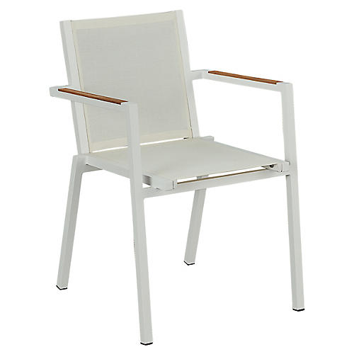 Essentials James Stacking Armchair, White