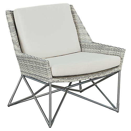 Jewel Lounge Chair, Gray/Natural