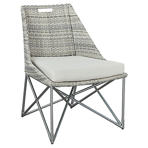 Jewel Side Chair, Gray/Natural