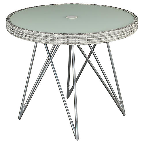 Jewel Round Bistro Table, Gray/Natural