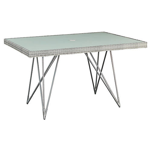Jewel Rect. Counter Table, Gray/Natural
