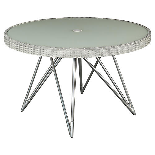 Jewel Round Dining Table, Gray/Natural