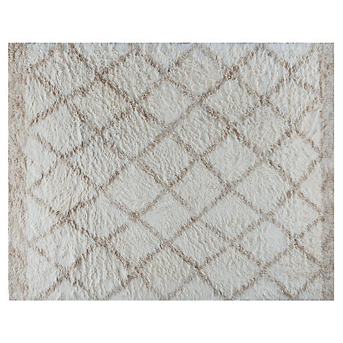 Ausa Hand-Knotted Rug, Beige