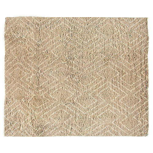 Egra Hand-Knotted Rug, Beige