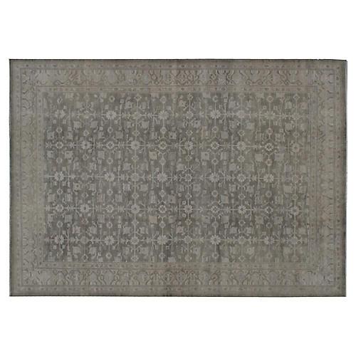 Mera Hand-Knotted Rug, Mocha/Gray