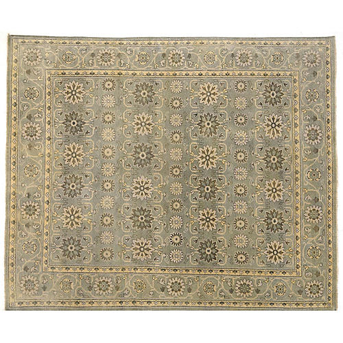 Piro Hand-Knotted Rug, Beige/Moss