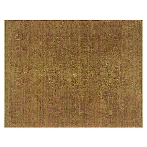 "10'x14'9"" Rani Hand-Knotted Rug, Copper"