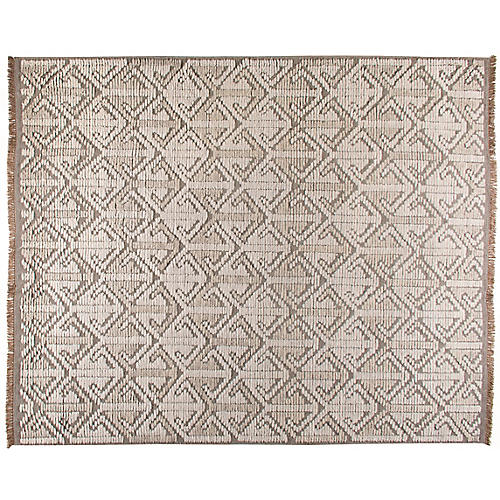 Tezu Hand-Knotted Rug, Cream