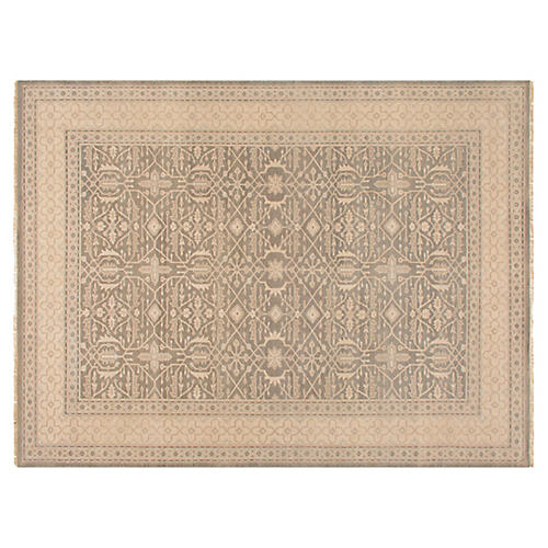 Tihun Hand-Knotted Rug, Beige/Sand