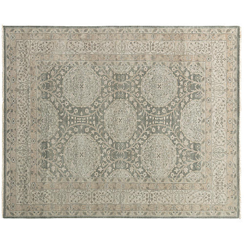 Tura Hand-Knotted Rug, Beige/Gray