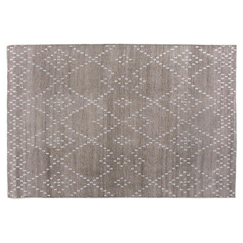 Vada Hand-Knotted Rug, Brown