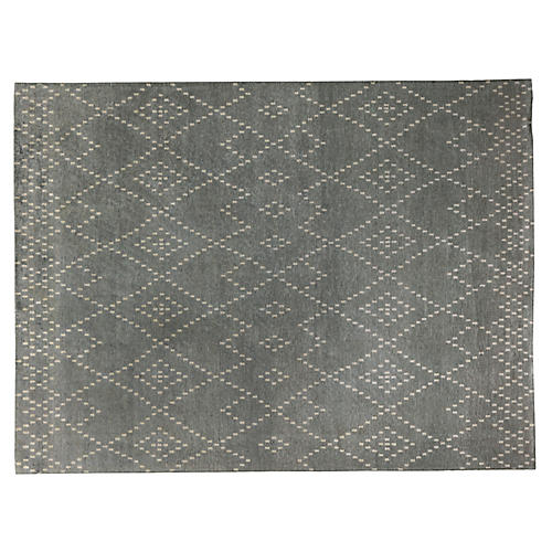 Vada Hand-Knotted Rug, Gray