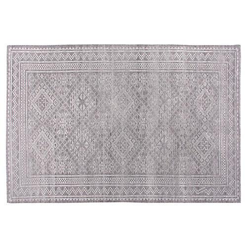 Adari Hand-Knotted Rug, Pale Gray