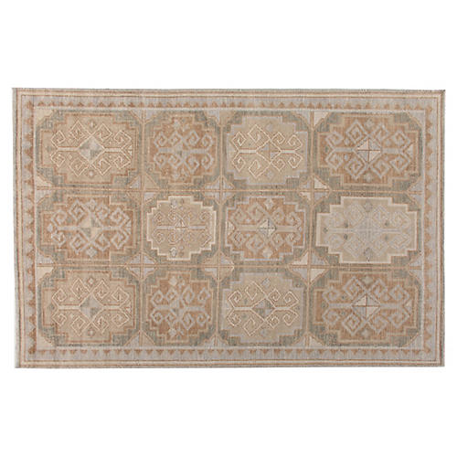 10'x14' Alwal Hand-Knotted Rug, Beige