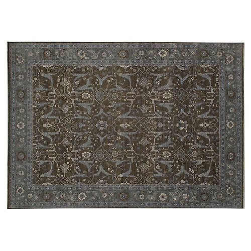 Bamor Hand-Knotted Rug, Brown/Gray