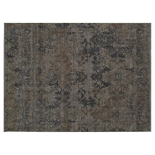 "9'11""x14'1"" Daund Hand-Knotted Rug, Brown"