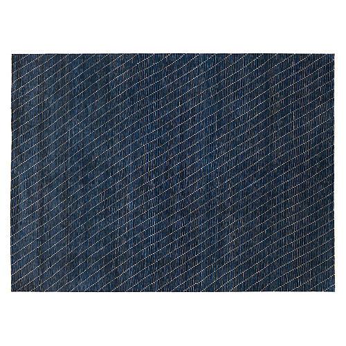 Hosur Hand-Knotted Rug, Blue