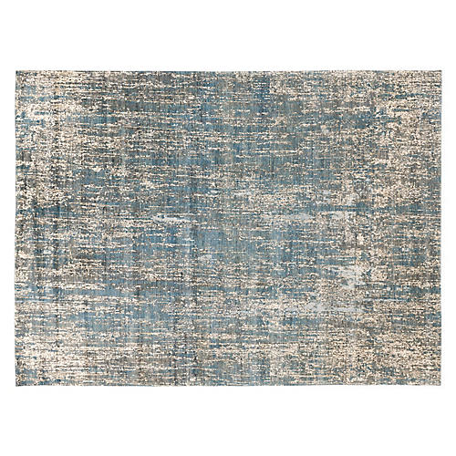 Iglas Hand-Knotted Rug, Blue/Gray