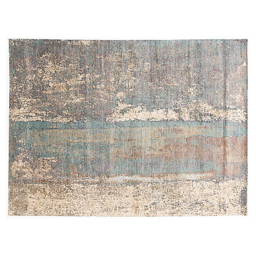 Jalna Hand-Knotted Rug, Gray/Multi