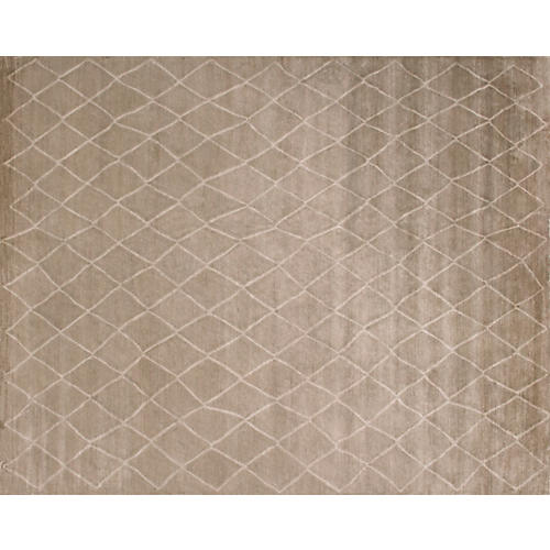 Nehon Hand-Knotted Rug, Brown