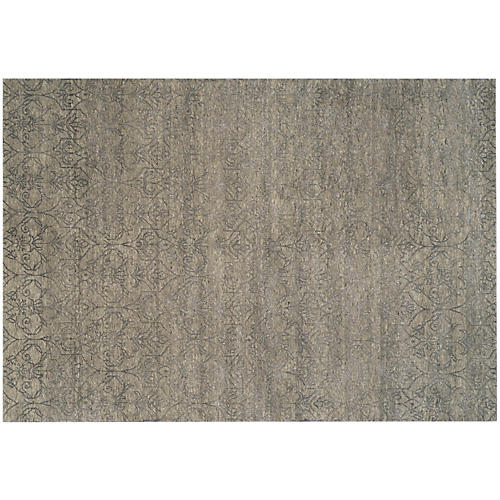 Rajur Hand-Knotted Rug, Gray/Multi