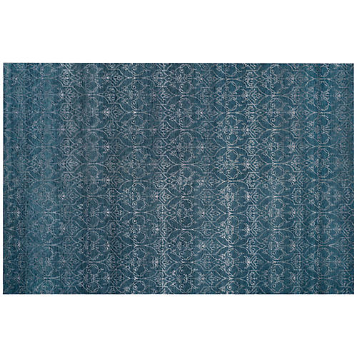 Sarni Hand-Knotted Rug, Blue
