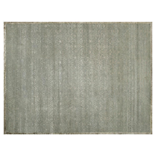 Yevla Hand-Knotted Rug, Green